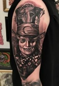 暗黑肖像风格的写实纹身作品--谁敢尝试一下