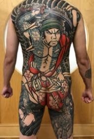 5張傳統滿背全胛通體紋身圖案作品欣賞