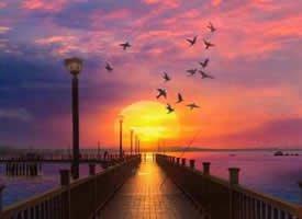 陪你一起看夕阳西下.慢慢变老