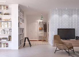 65平小而美的精巧單身公寓裝修效果圖