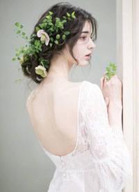 超仙的美丽优雅的新娘发饰图片