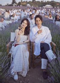 戚薇李承铉出席薰衣草音乐节,画面太美,颜值爆表 ? ????