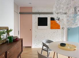 30 坪北歐風單身公寓公寓 采用開放式格局,引入大量自然光