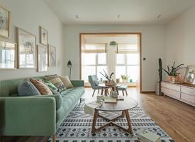 现代原木风  原木家具配糖果软装,打造清新舒适的家