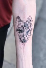 设计感很不错的一组小手臂上的小清新纹身图案