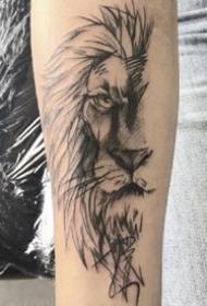 十二星座之狮子座的一组星座纹身图案9张
