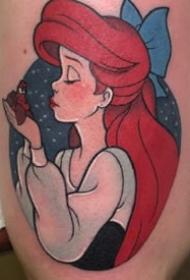 迪士尼绝色的一组彩色卡通纹身作品图案9张