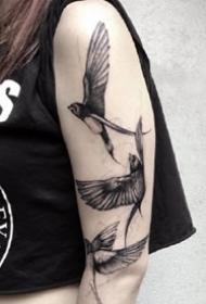 手臂和大腿上的一组黑色创意纹身图案