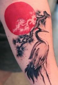 一组水墨风格的小纹身图案作品欣赏