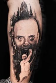 手臂影视人物:纹在胳膊上的欧美影视人物肖像写实纹身