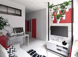 35㎡精致的單身小公寓設計裝修效果圖
