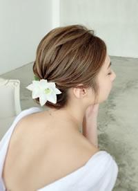 自然簡約永恆的新娘发型造型参考