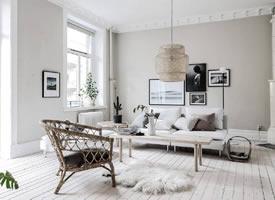 北欧风格的客厅效果:单人沙发或躺椅+北欧风格抱枕,搭配出感觉