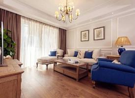98㎡简约美式风格家居装修设计案例,色调柔和又舒适温馨