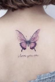 女孩子很喜歡的一組蝴蝶紋身圖案9張