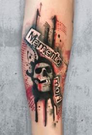 17张暗水彩风格的纹身图案作品
