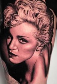 9张欧美人物肖像的写实纹身作品图案