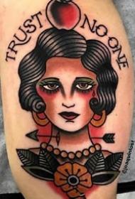 一组old school风格的欧美女郎纹身