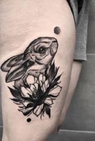 平安彩票开奖网的一组关于兔子的纹身作品欣赏