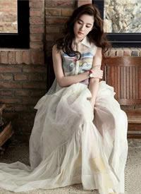 刘亦菲 时尚大片 清纯写真大秀美腿 美美哒