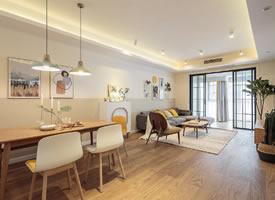 简约北欧风三居室装修案例,温馨的暖色调让人心安