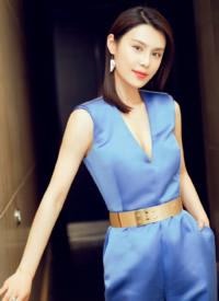 韓丹彤藍色禮服性感圖片