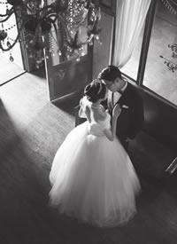 一组意境感很美的室内婚纱拍摄图片