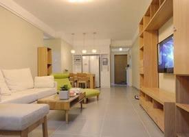 80㎡简约日式,浅色系的原木家具更显室内明净清新