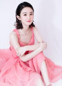 赵丽颖红色礼服长裙性感写真图片
