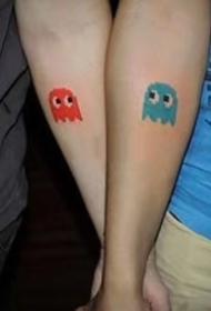 平安彩票网纹身:适合恋人的一组成对纹身图案