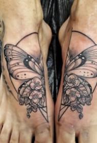 脚背上9张很有创意的个性纹身图案