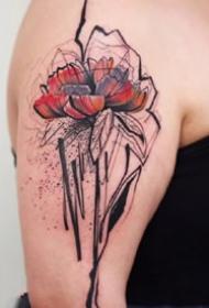 乱中有序的漂亮水墨创意设计纹身图案