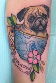 為愛寵定制的一組寵物紋身作品