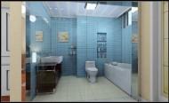 清新蓝色系卫生间设计图片_5张