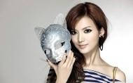 美丽的面具美女图片_10张