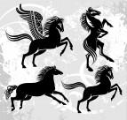 馬的剪影與插畫圖片_2張