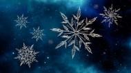 雪花圖形簡約背景圖片_10張