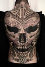 歐美超現實暗黑大滿背紋身作品欣賞