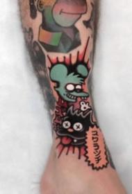 27张school风格的彩色手臂纹身图案