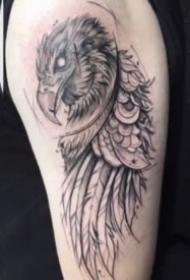 9张老鹰主题的鹰纹身图案作品
