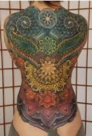 震撼的一组霸气大满背纹身作品图片