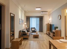80㎡现代简约风格家居装修设计,淡淡的原木质感,自然清新
