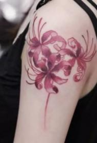 漂亮的一組曼陀羅彼岸花紋身圖案