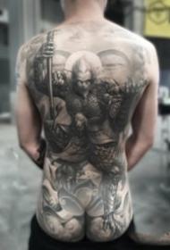 中國傳統風格的大滿背紋身作品欣賞
