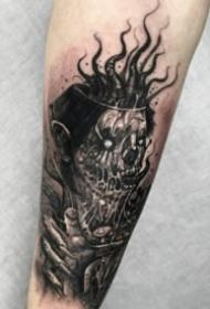 18组暗黑欧美包大臂写实人像纹身图案