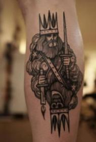 恐怖骷髅主题的一组暗黑色纹身图片