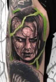 超现实主义的欧美暗黑人像纹身作品9张