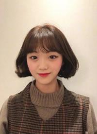 不同个性韩系女生短发发型图片欣赏