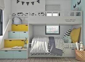 几款色彩漂亮的儿童房装修设计作品