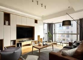 一组别致好看的新中式三居室装修效果图